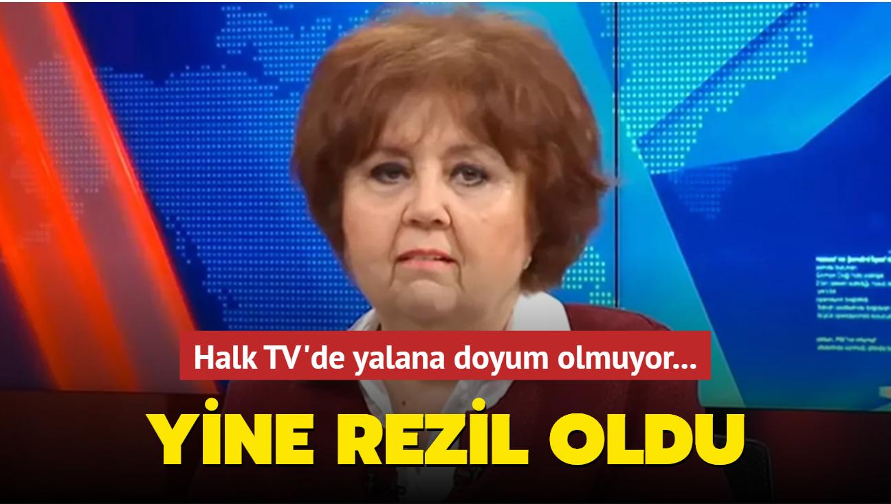 Halk TV'de yalana doyum olmuyor! Ayşenur Arslan yine rezil oldu