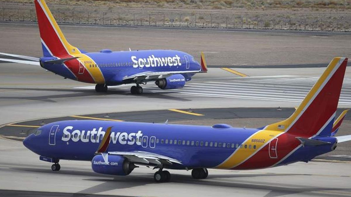 ABD'li hava yolu şirketi Southwest Airlines, 2 bin'den fazla uçuşu iptal etti