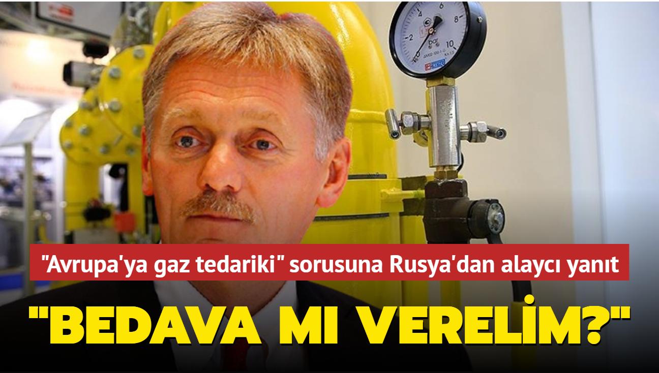 """""""Avrupa'ya gaz tedariki"""" sorusuna Rusya'dan alaycı yanıt: Bedava mı verelim"""""""