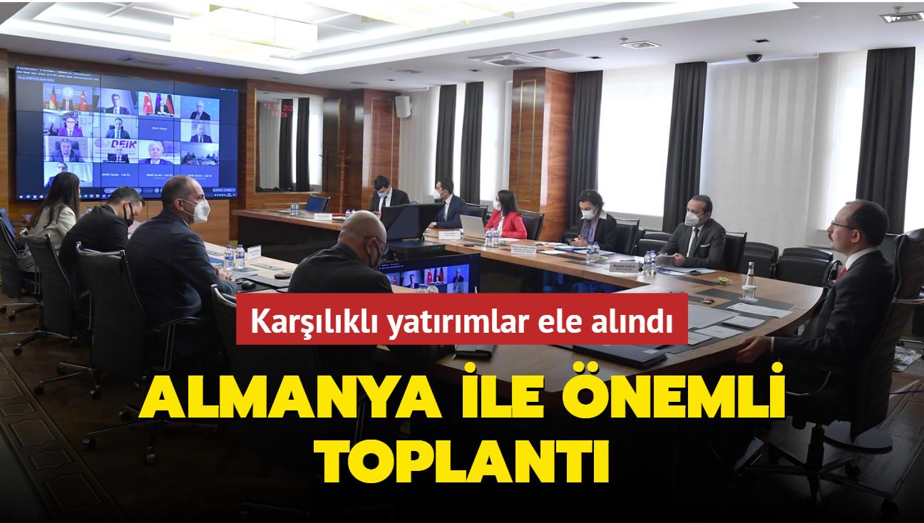 Karşılıklı yatırımlar ele alındı... Türkiye-Almanya Ortak Ekonomi ve Ticaret Komisyonu