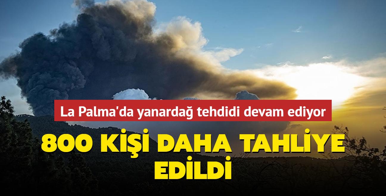 La Palma Adası'nda yanardağ tehdidi devam ediyor... 800 kişi daha tahliye edildi