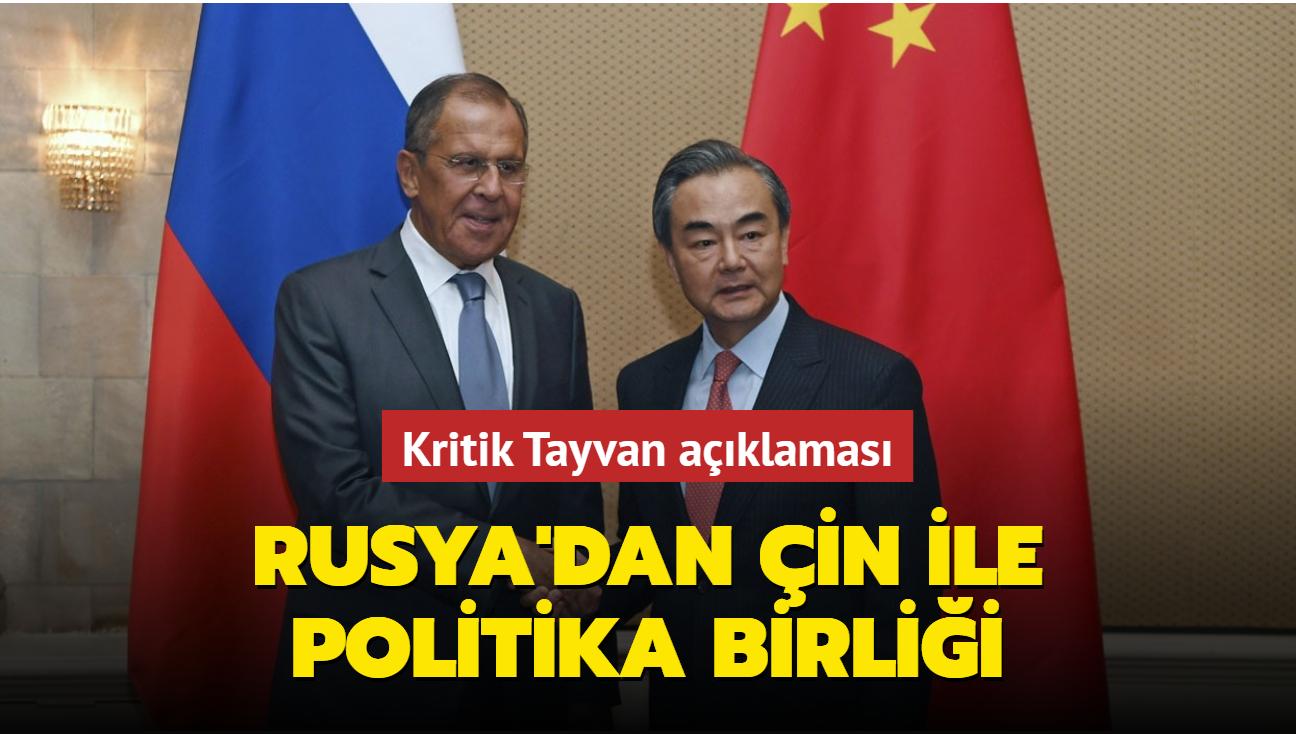 """Lavrov'dan Tayvan cevabı... """"Rusya için Çin'e ait adadır"""""""