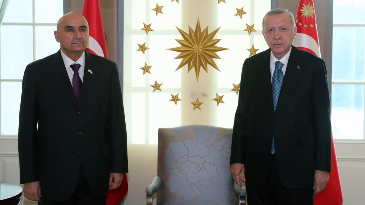 Başkan Erdoğan, Tacikistan Meclis Başkanı Zokirzoda'yı kabul etti