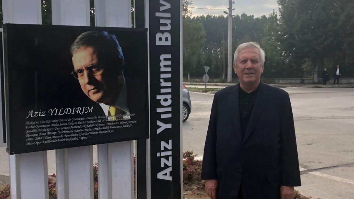 Düzce Belediyesi'nden Aziz Yıldırım'a jest