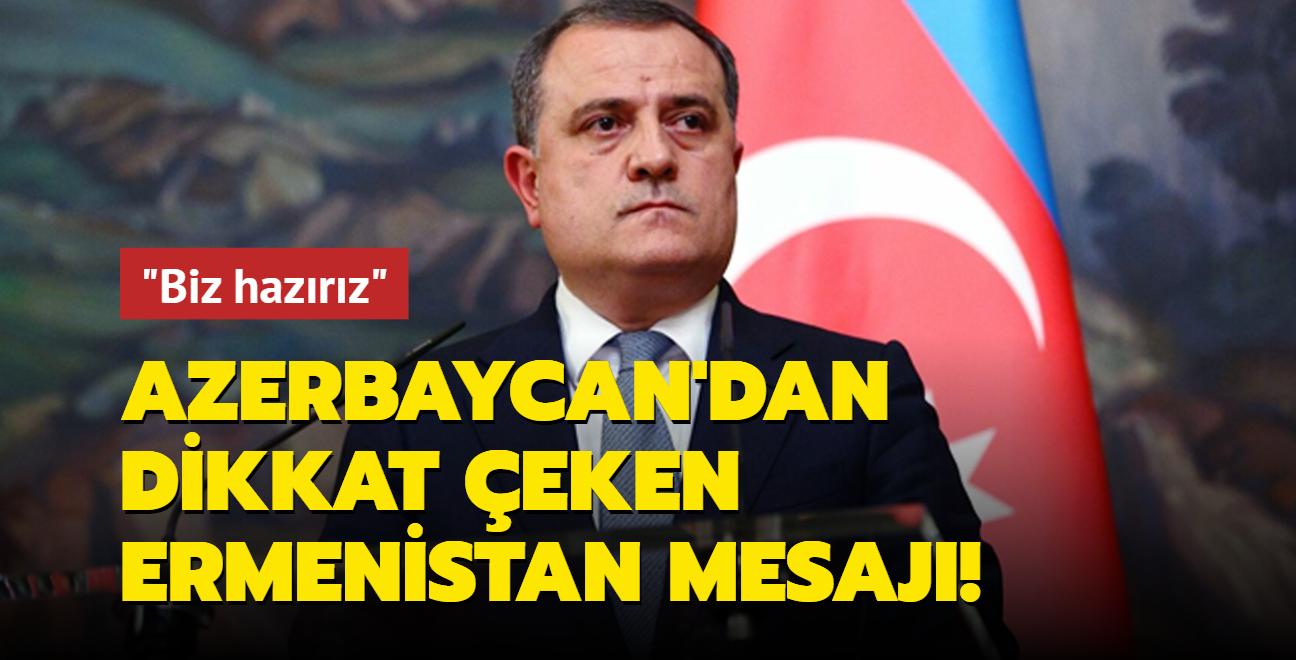 Azerbaycan'dan Ermenistan'a mesaj: Hazırız!