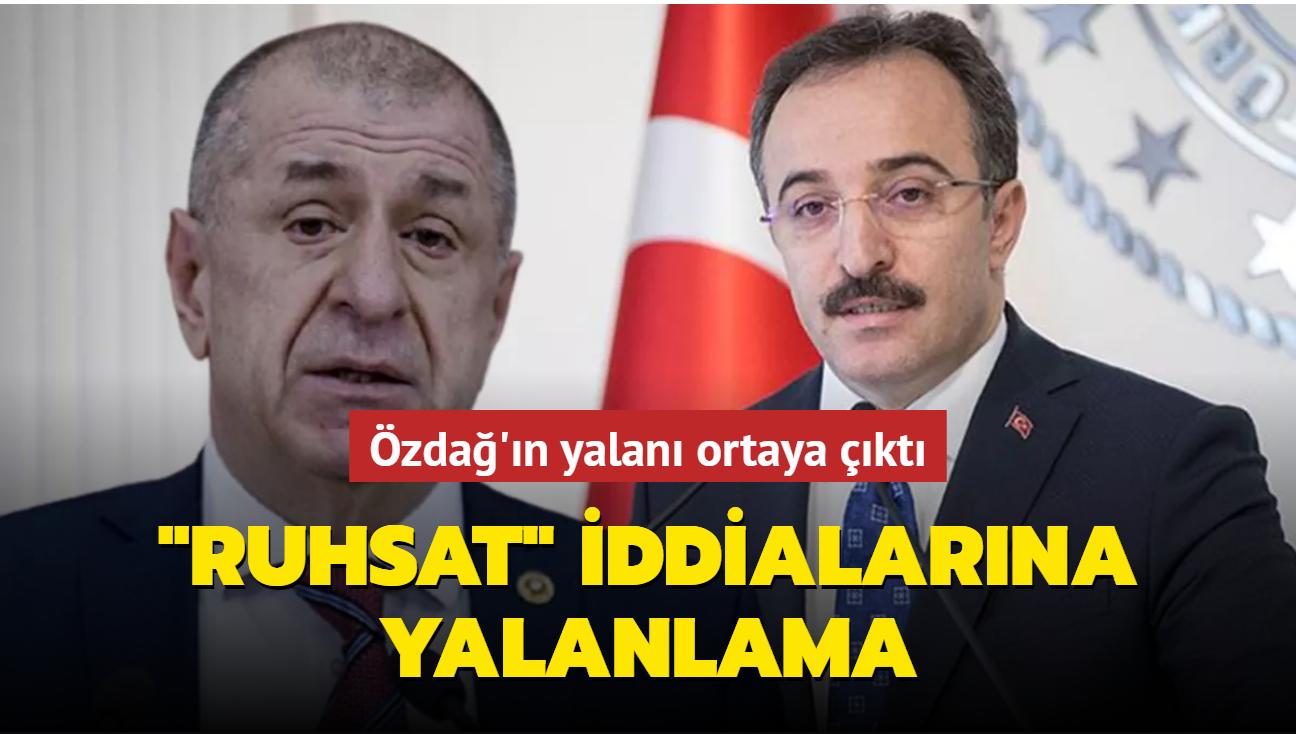 """İçişleri Bakan Yardımcısı Çataklı'dan Ümit Özdağ'a yanıt: """"Ruhsat"""" iddialarını yalanladı"""