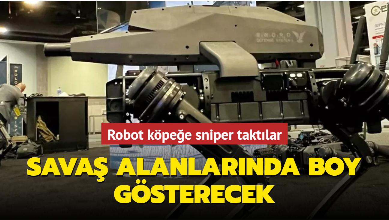 Robot köpeğe sniper taktılar... Savaş alanlarında boy gösterecek