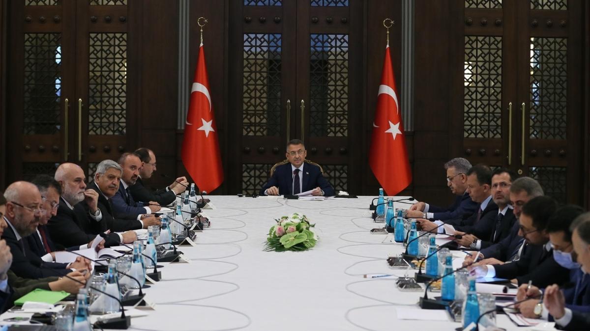 Beştepe'de ihracatın geliştirilmesine yönelik değerlendirme toplantısı yapıldı