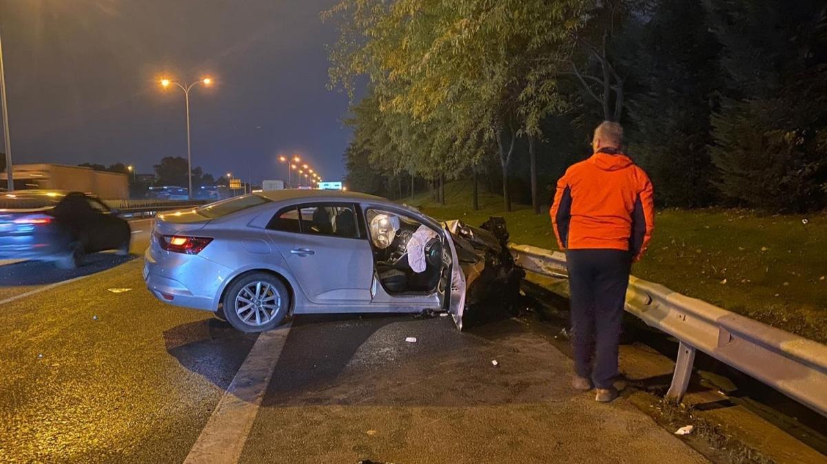 TEM Otogar Bağlantı Yolunda kaza... 2 kişi yaralandı