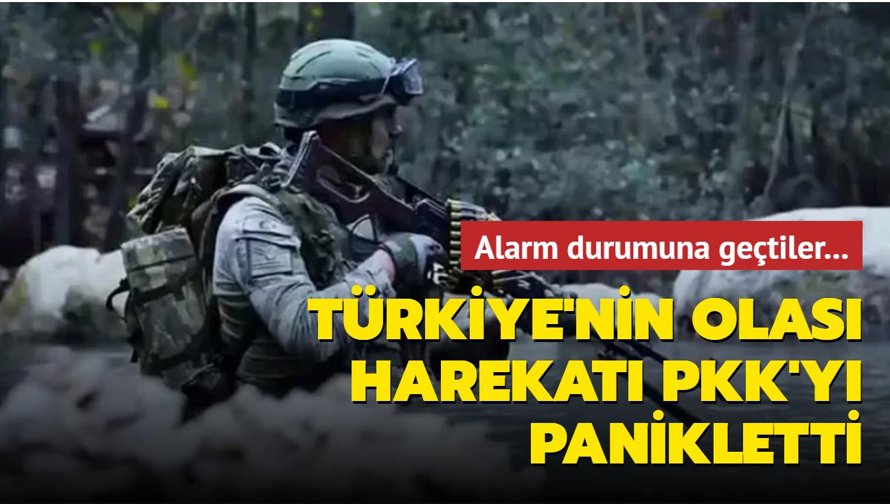 Türkiye'nin olası harekatı PKK'yı panikletti! Alarm durumuna geçtiler
