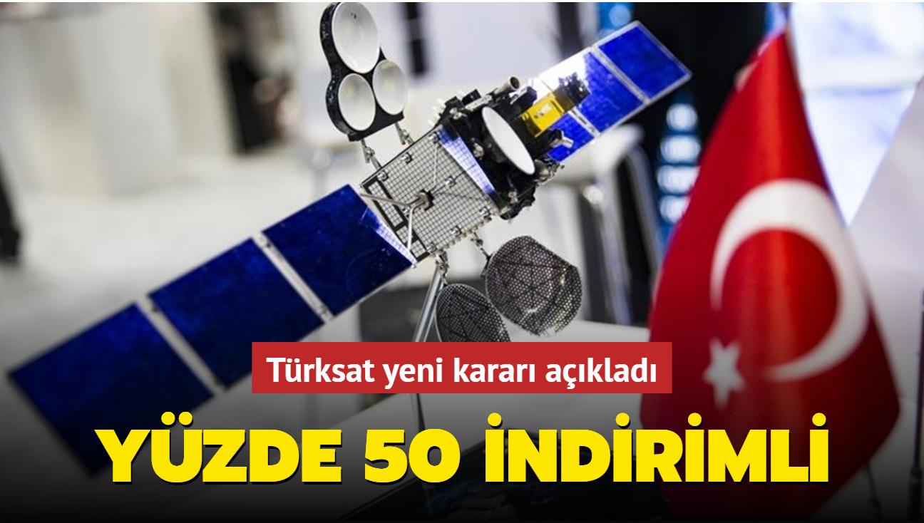Türksat yeni kararı açıkladı: Yüzde 50 indirimli...