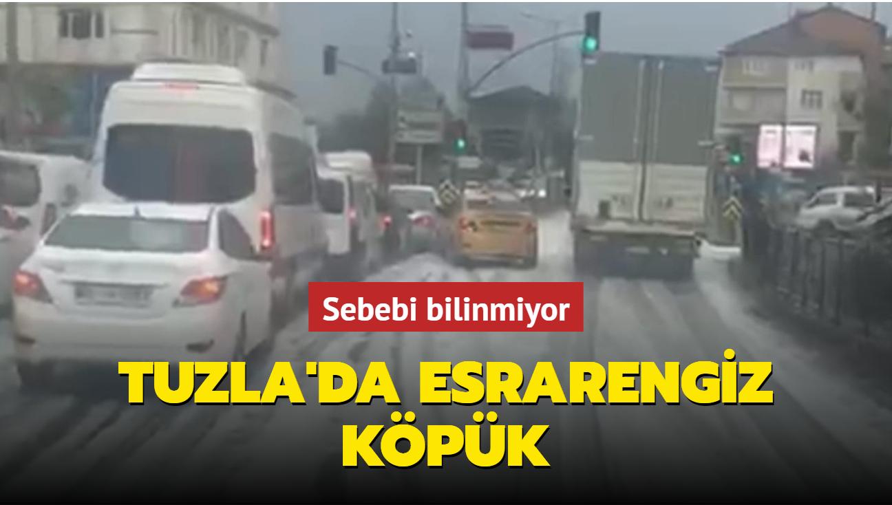 Tuzla'da esrarengiz köpük: Sebebi bilinmiyor