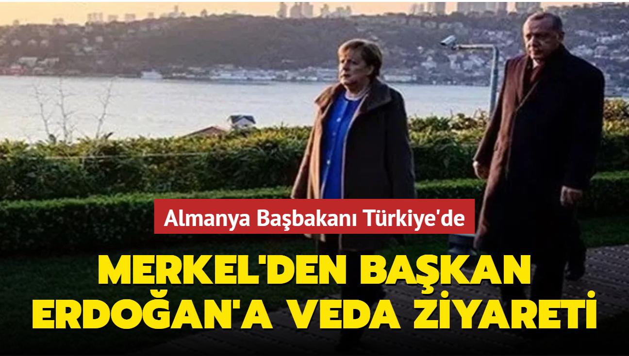 Merkel'den veda ziyareti... Almanya Başbakanı Türkiye'de