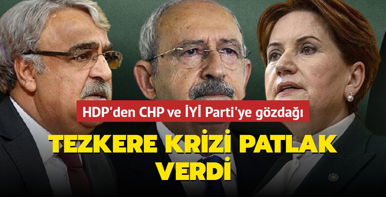 Muhalefette tezkere krizi... HDP, CHP ve İYİ Parti'ye aba altından sopa gösterdi