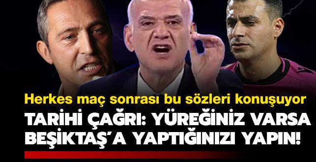 'Yüreğiniz varsa Beşiktaş'a yaptığınızı yapın!' Maç sonrası olanlar oldu!