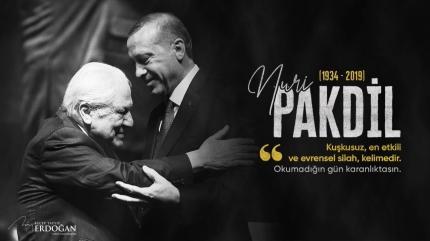 Başkan Erdoğan'dan Nuri Pakdil paylaşımı