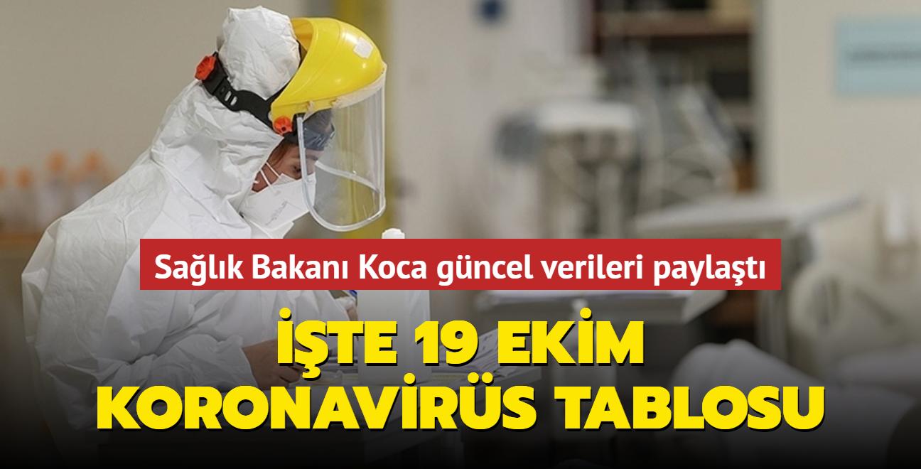 Sağlık Bakanı Koca güncel verileri paylaştı... İşte 19 Ekim koronavirüs tablosu