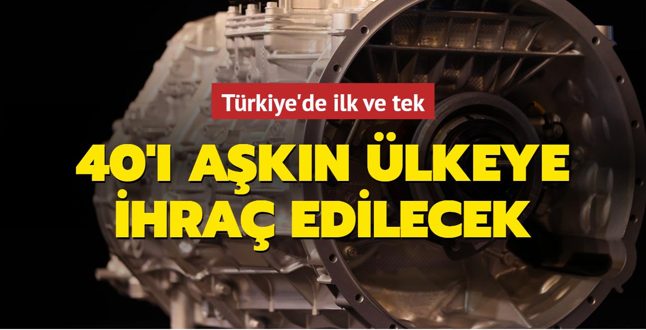 Türkiye'de ilk ve tek... 40'ı aşkın ülkeye ihraç edilecek