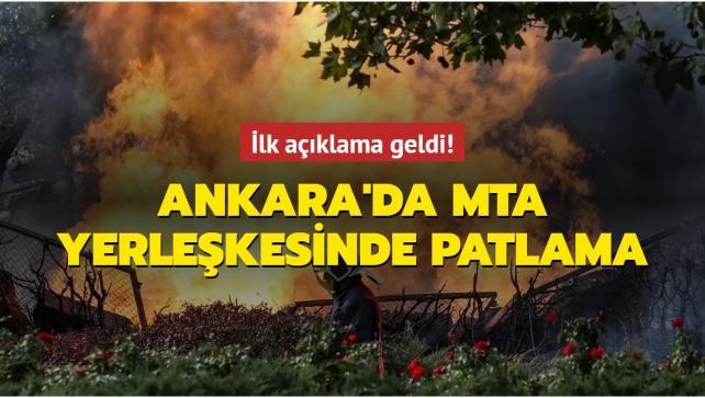 Ankara'da MTA yerleşkesinde patlama: Bölgeye ekipler sevk edildi