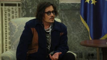 Johnny Depp 'Puffins' animasyon dizisinin tanıtımı için Sırbistan'a gitti