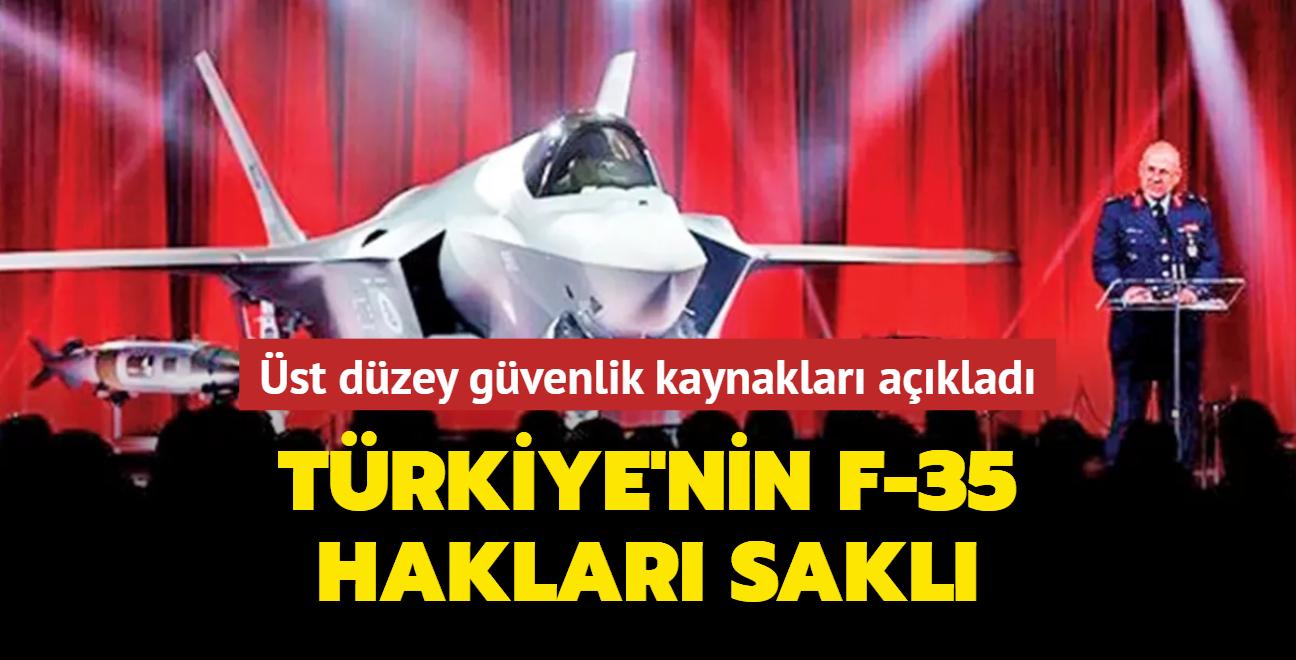 Türkiye F-35'teki haklarından vazgeçmedi