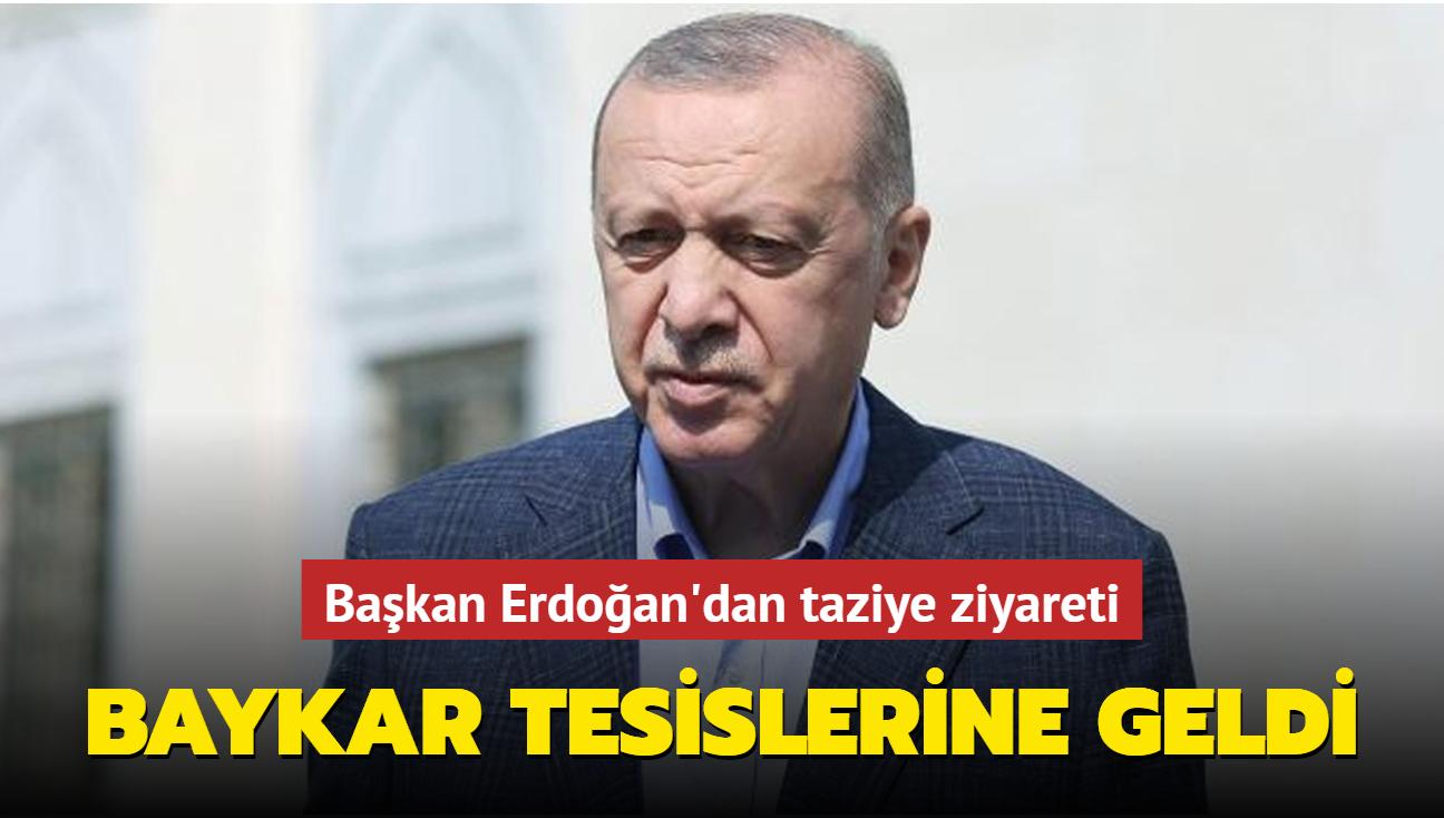 Başkan Erdoğan'dan Baykar tesislerine taziye ziyareti
