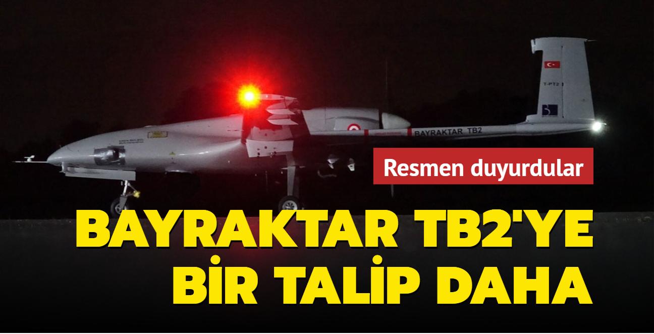 Resmen duyurdular... Bayraktar TB2'ye bir talip daha