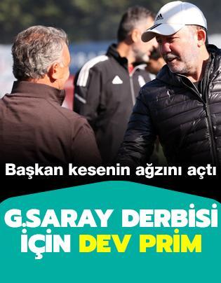 Beşiktaş'tan Galatasaray derbisi için dev prim
