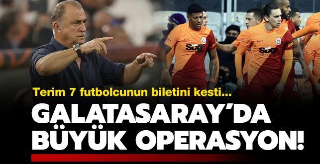 Galatasaray'da devre arası büyük operasyon
