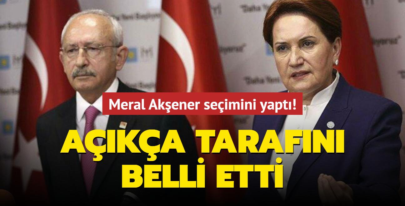 Meral Akşener,seçimini yaptı! Açıkça tarafını belli etti