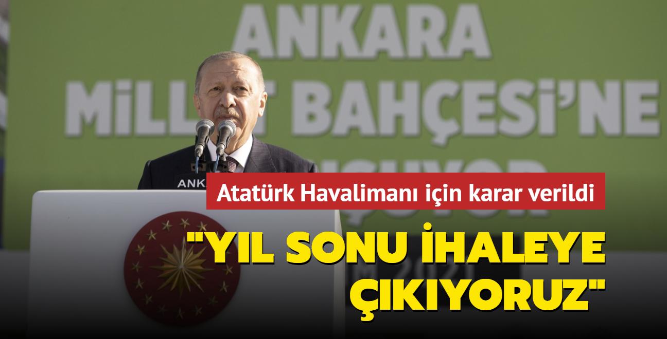 İstanbul'a yeni Millet Bahçesi... 'Atatürk Havalimanı için yıl sonu ihaleye çıkıyoruz'