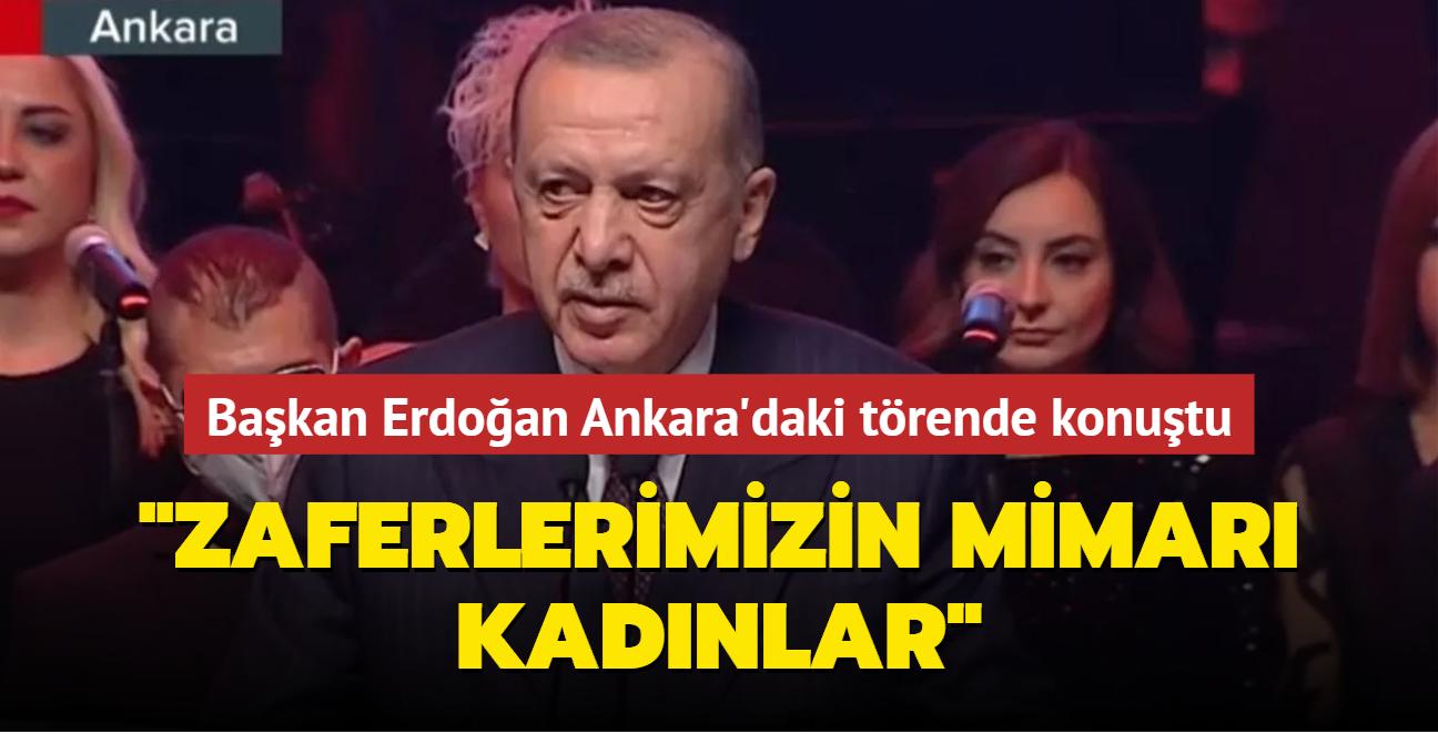 'Cumhuriyeti Kuran ve Yaşatan Kadınlar' programı... Başkan Erdoğan'dan önemli açıklamalar