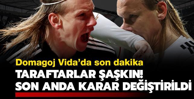 Vida'da son dakika! Taraftarlar şaşkın! Beşiktaş son anda karar değiştirildi