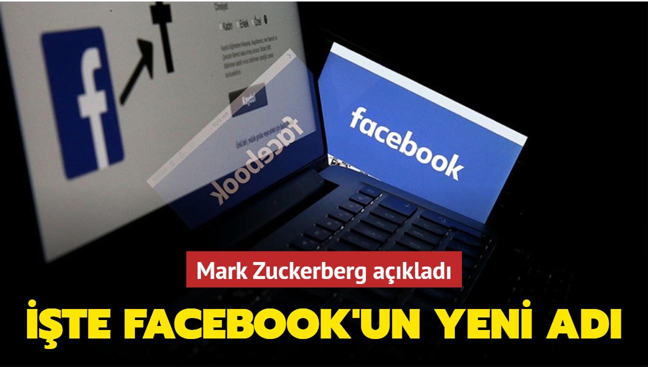 Mark Zuckerberg açıkladı: İşte Facebook'un yeni adı