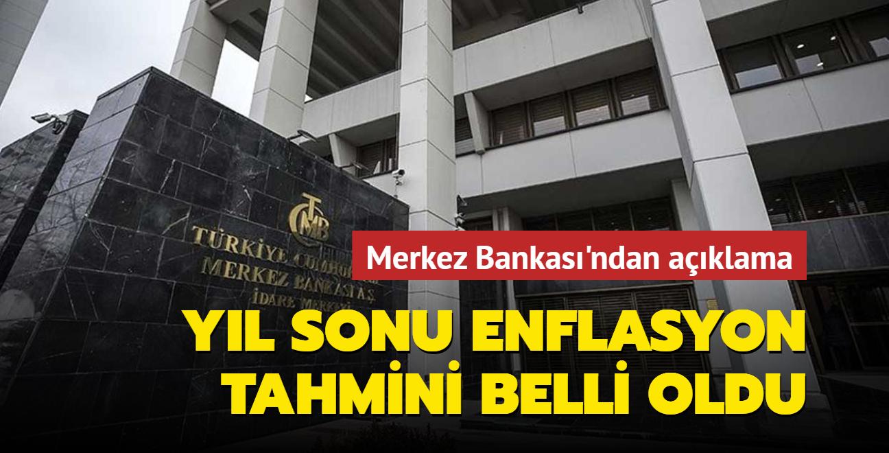 Merkez Bankası'nın 2021 yıl sonu enflasyon tahmini açıklandı