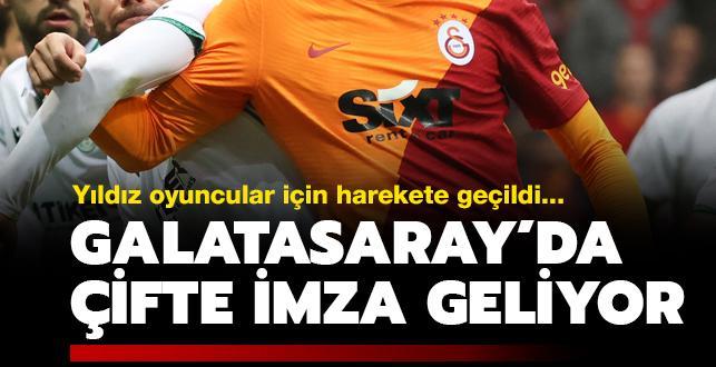 Galatasaray'da 2 yıldız imzayı atıyor