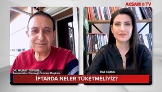 <h3>Akupunktur Derneği Onursal Başkanı Dr. Murat Topoğlu iftarda tüketilmesi gereken besinleri AKŞAM