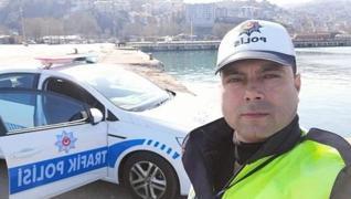 <p>Zonguldak'ta Emniyet Müdürlüğü'nde görevli trafik polisi Mustafa Dönmez, koronavirüs tedavisi gör
