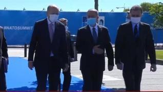 <p><strong>Başkan Recep Tayyip Erdoğan, NATO Zirvesi'nin düzenlendiği karargaha geldi. Başkan Erdoğa