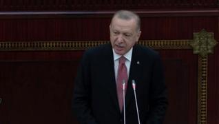 <p> Başkan Recep Tayyip Erdoğan, Azerbaycan Milli Meclisi'ne hitap ediyor. Türkiye'nin, hem devlet h