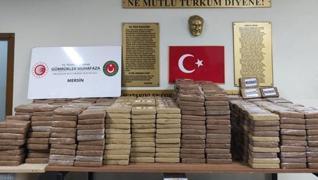 <p>Ticaret Bakanı Mehmet Muş, Gümrük Muhafaza ekiplerinin Mersin Limanı'nda 1 ton kokain ele geçiril