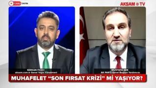 <p>AK Parti Genel Başkan Yardımcısı Mustafa Şen Akşam TV canlı yayınına konuk oldu. Şen, Aksam.com.t