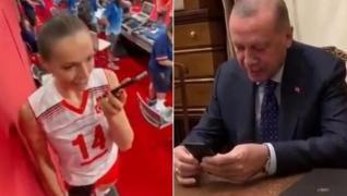 <p>Başkan Erdoğan, Tokyo 2020'deki ilk maçında son olimpiyat şampiyonu Çin'i yenen ay-yıldızlı ekibi