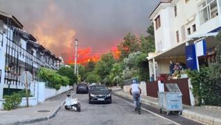 <p>Muğla'nın Marmaris ilçesindeki ormanlık alanda yangın çıktı. Amutalan Mahallesi'ndeki ormanlık al