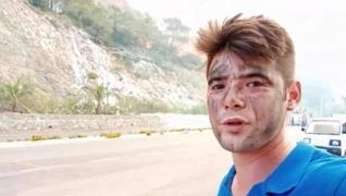 <p>Muğla'nın Marmaris ilçesindeki ormanlık alanda çıkan yangından motosikletiyle uzaklaşırken kaza y