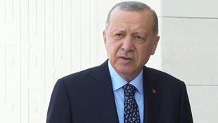 <p>Başkan Erdoğan, Çamlıca Camisi'ndeki cuma namazının ardından açıklamalarda bulundu. Türkiye'nin g
