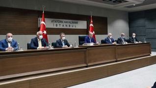 <p>Birleşmiş Milletler 76. Genel Kurulu'na katılmak üzere ABD'ye hareketi öncesi Atatürk Havalimanı'