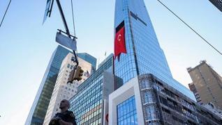 <p>Temelini 2017'de Başkan Recep Tayyip  Erdoğan attı.</p><p>New York'un silüetinde yerini alan  yen