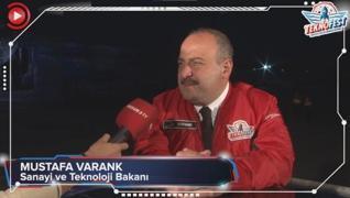 <p>Sanayi ve Teknoloji Bakanı Mustafa Varank, TEKNOFEST'te AKŞAM TV'ye özel açıklamalarda bulundu. T