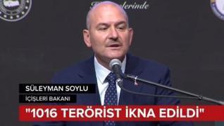 <p>2016'dan beri ikna yolu ile bin 16 terörist teslim  oldu. Başarılı operasyonlarla terör örgütü PK